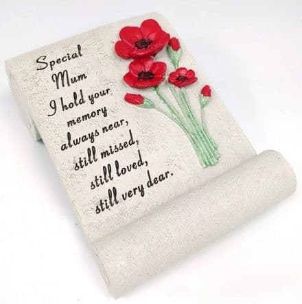Mum Poppy Memorial Scroll